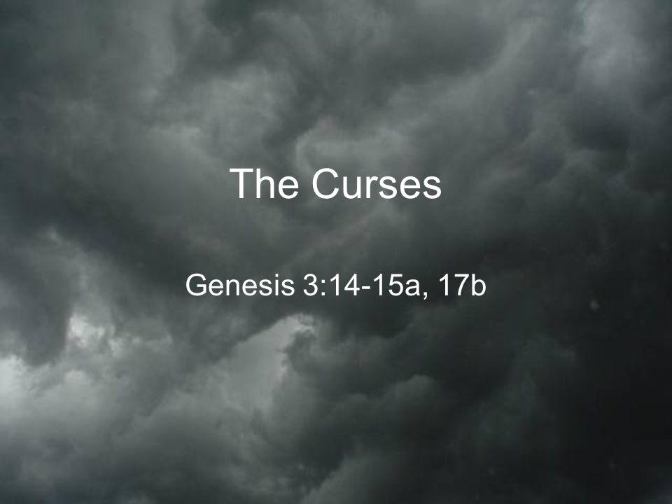 The Curses Genesis 3:14-15a, 17b