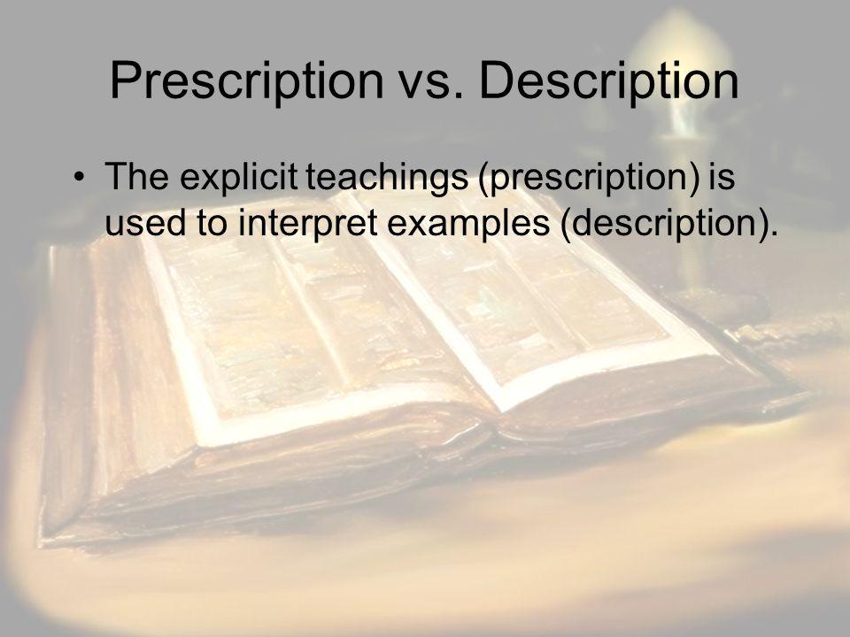 Prescription vs.