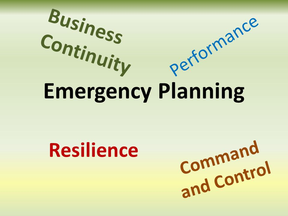 Resilience Business Continuity Command and Control Performance