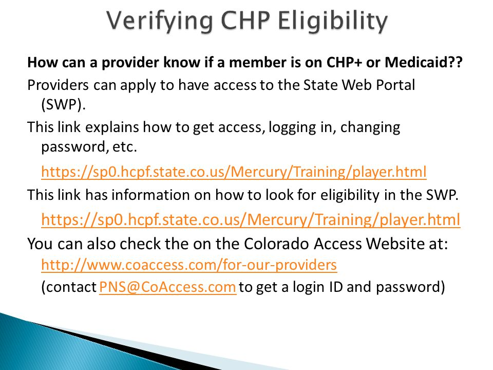 How can a provider know if a member is on CHP+ or Medicaid .