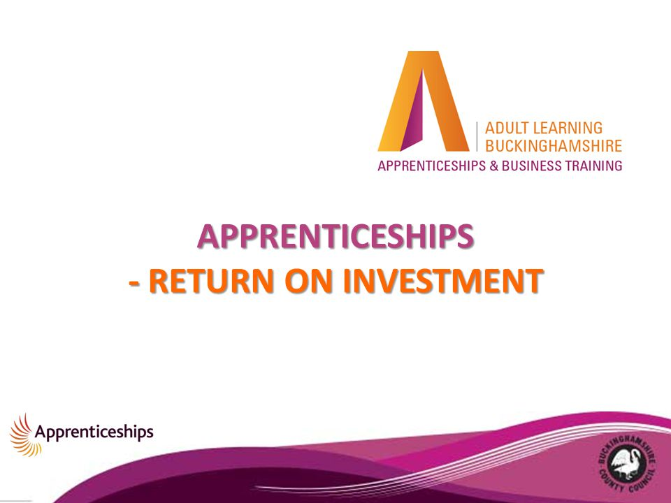 APPRENTICESHIPS - RETURN ON INVESTMENT