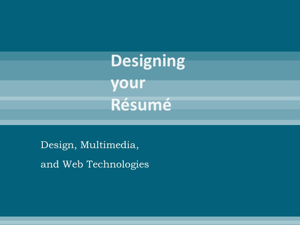 Design, Multimedia, and Web Technologies