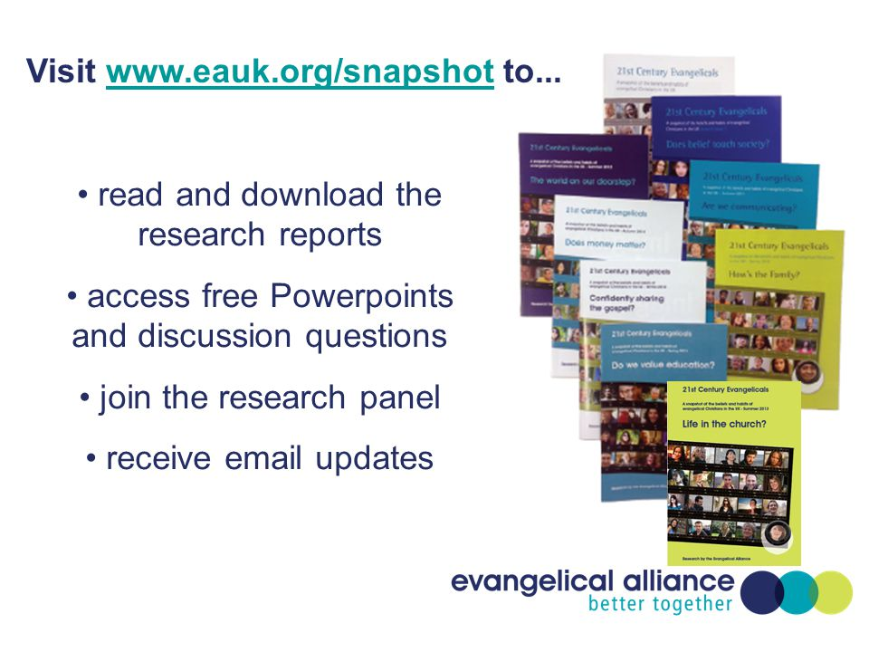 read and download the research reports access free Powerpoints and discussion questions join the research panel receive email updates Visit www.eauk.o