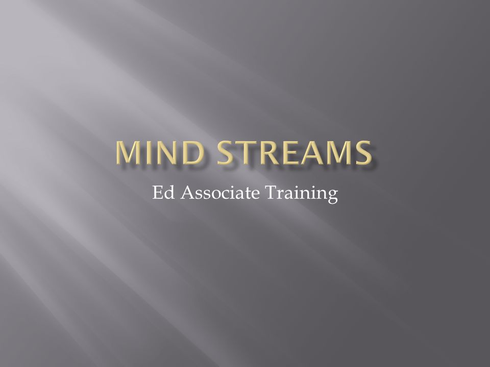 Ed Associate Training
