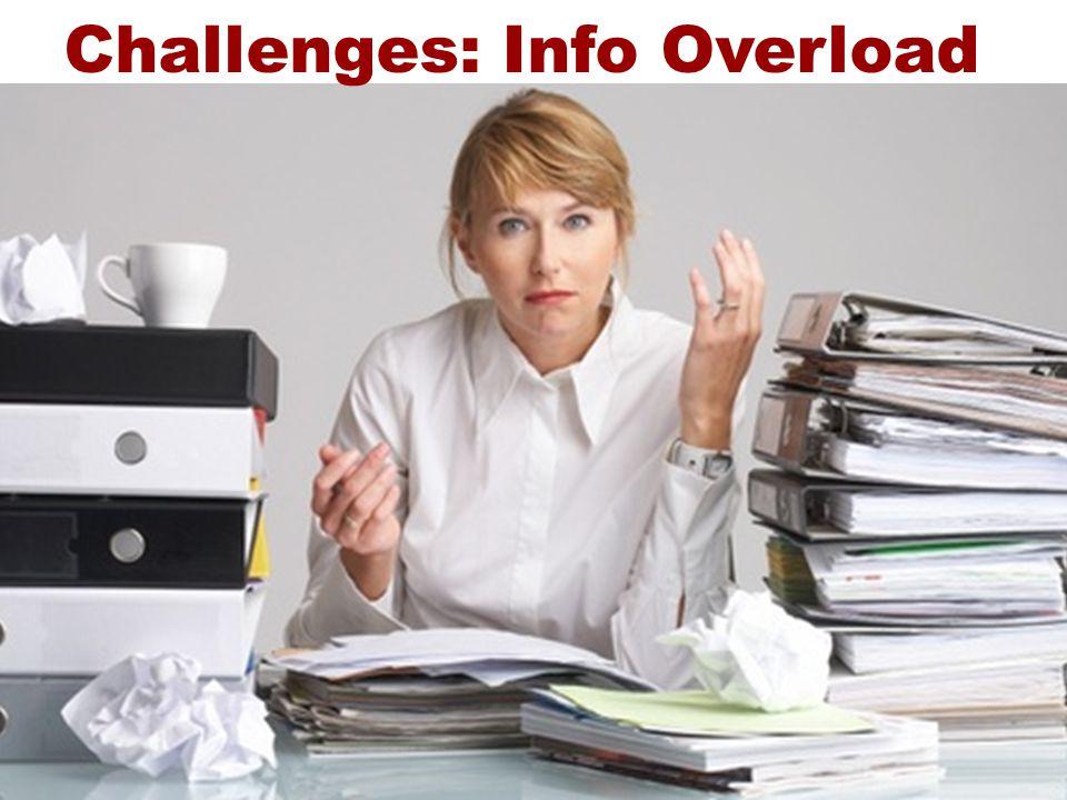 Challenges: Info Overload