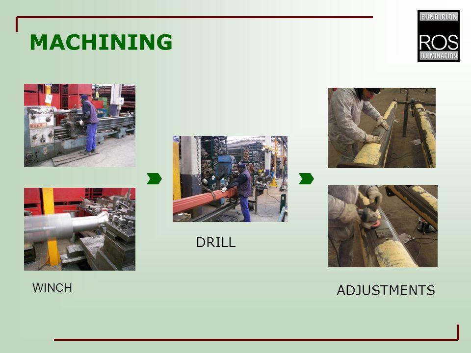 MACHINING WINCH DRILL ADJUSTMENTS