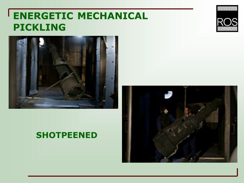 SHOTPEENED ENERGETIC MECHANICAL PICKLING