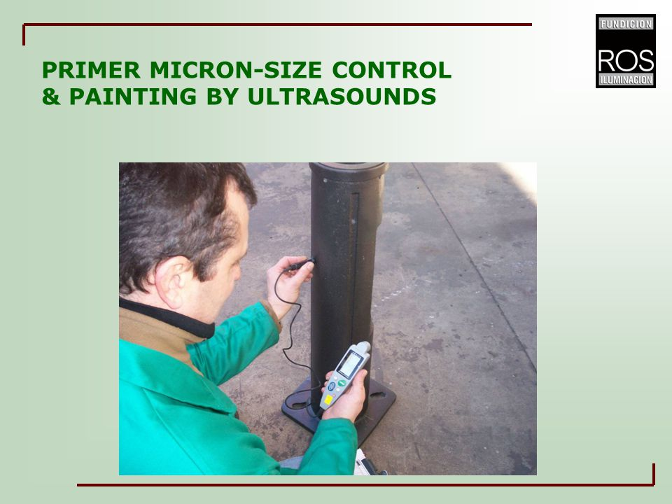 PRIMER MICRON-SIZE CONTROL & PAINTING BY ULTRASOUNDS