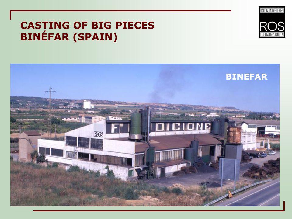 BINEFAR CASTING OF BIG PIECES BINÉFAR (SPAIN)