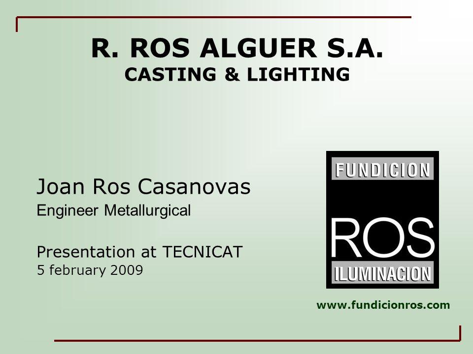R. ROS ALGUER S.A.