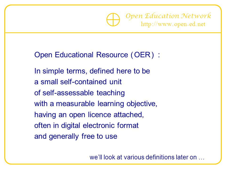 Open Education Network http :// www. open - ed.