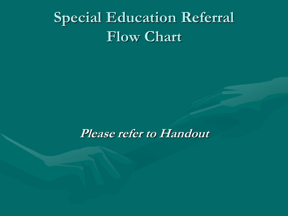 Special Education Referral Flow Chart Please refer to Handout
