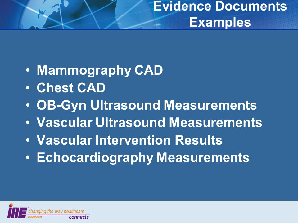 Simple Image & Numeric Report Value proposition Reports' content is more than words… Based on DICOM SR Allows to include without transcription: –measurements –image links –structured content Integrated with the imaging workflow Friendly to XML implementations Easy to export with HL7