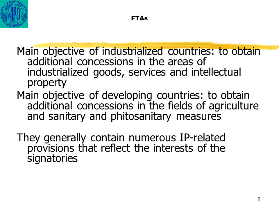 19 FTAs (ii) Some US/DC FTAs provisions concerning test data for pharmaceutical products a) Data exclusivity b) Requirements (reduction in their scope) c) Extraterritorial effects (recognition of approvals granted in other countries) d) Patent linkage