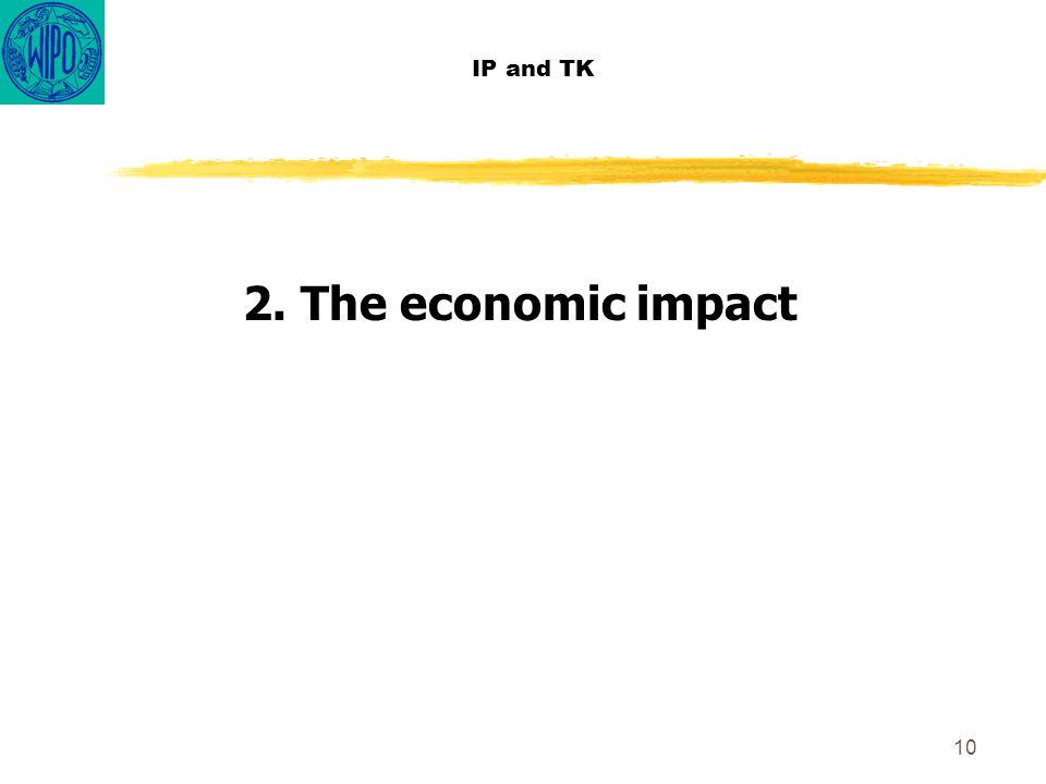 10 IP and TK 2. The economic impact