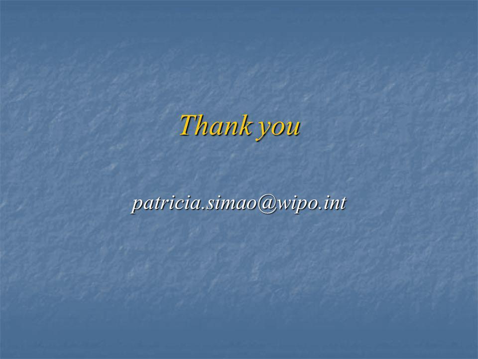 Thank you patricia.simao@wipo.int