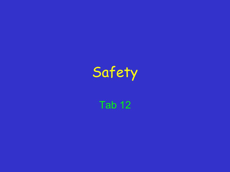 Safety Tab 12