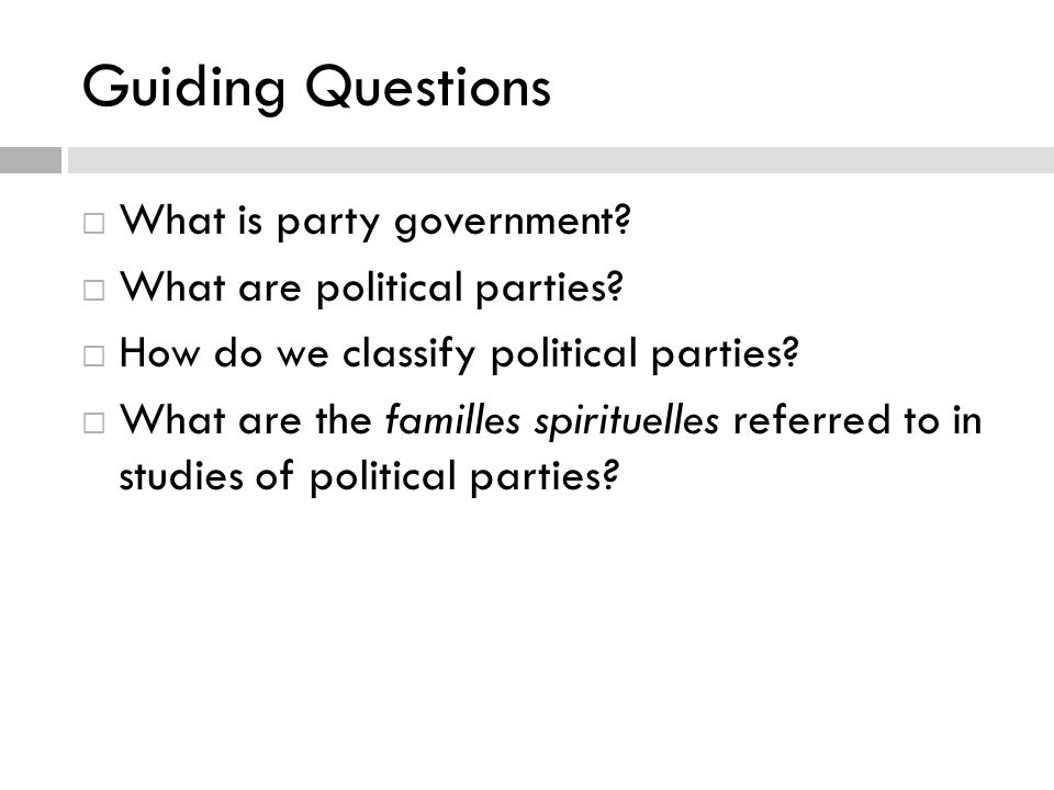  Political science suggests that political parties play a central role in promoting and maintaining democracy.