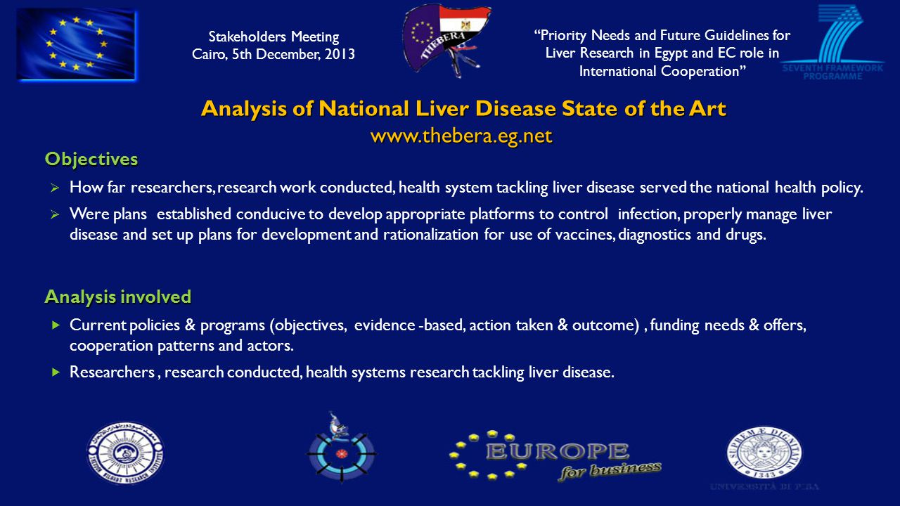 Analysis of National Liver Disease State of the Art Analysis of National Liver Disease State of the Artwww.thebera.eg.netObjectives  How far researchers, research work conducted, health system tackling liver disease served the national health policy.