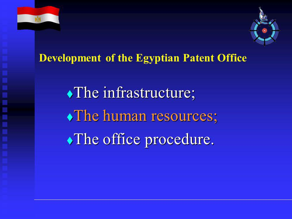  The infrastructure;  The human resources;  The office procedure.