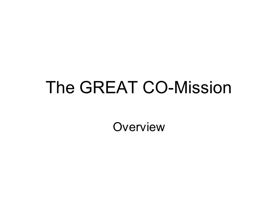 The GREAT CO-Mission Overview