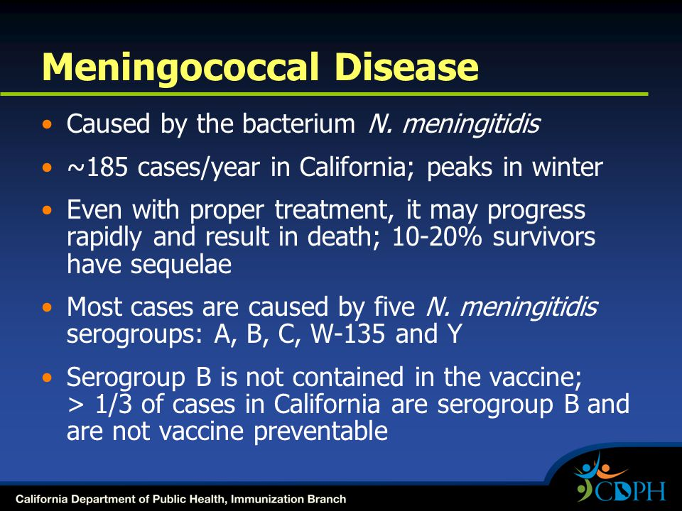 Caused by the bacterium N.
