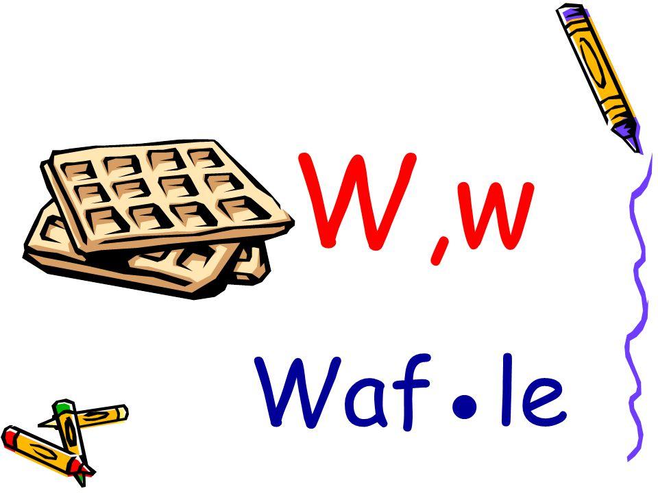 W,w Waf●le