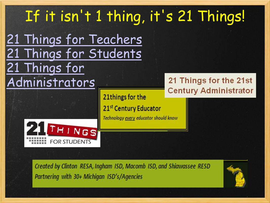 If it isn t 1 thing, it s 21 Things.