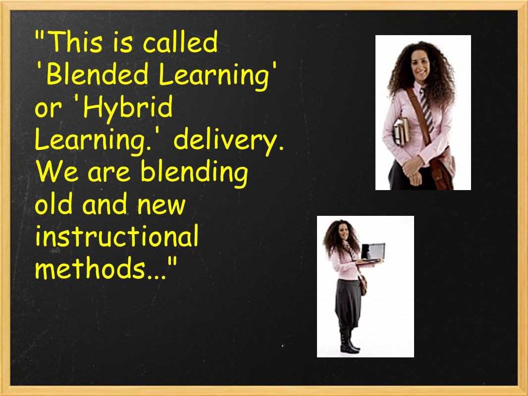 This is called Blended Learning or Hybrid Learning. delivery.