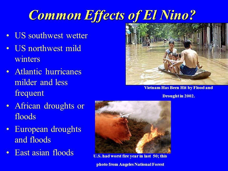 Common Effects of El Nino.