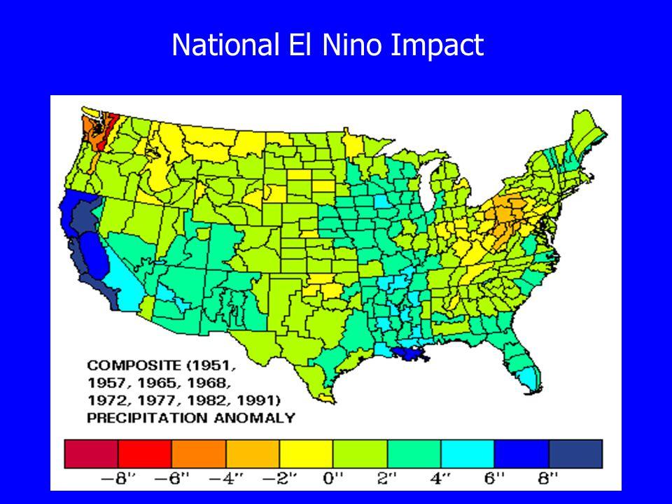 National El Nino Impact