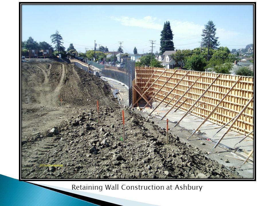 Retaining Wall Construction at Ashbury