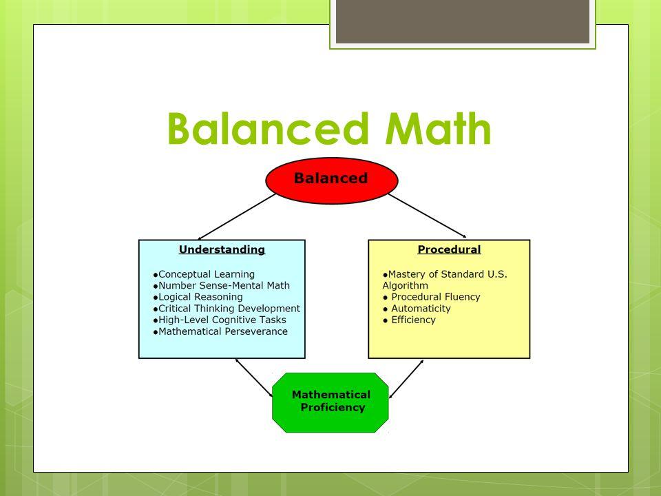 Balanced Math