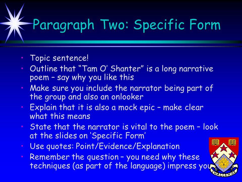 Paragraph Three: Language Topic sentence.