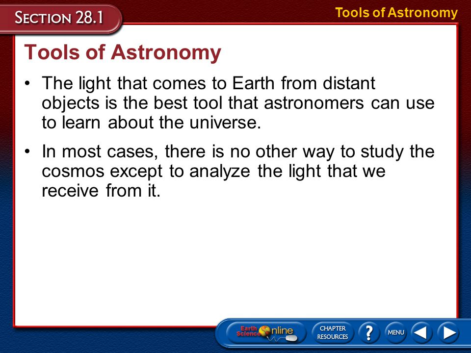 In most cases, there is no other way to study the cosmos except to analyze the light that we receive from it.