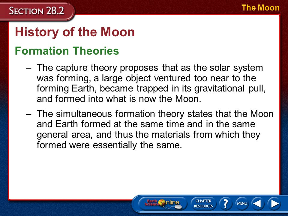 History of the Moon Tectonics on the Moon? The Moon