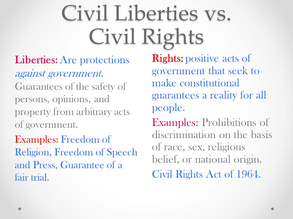 Limited Government = Personal Freedoms The US Government is limited.