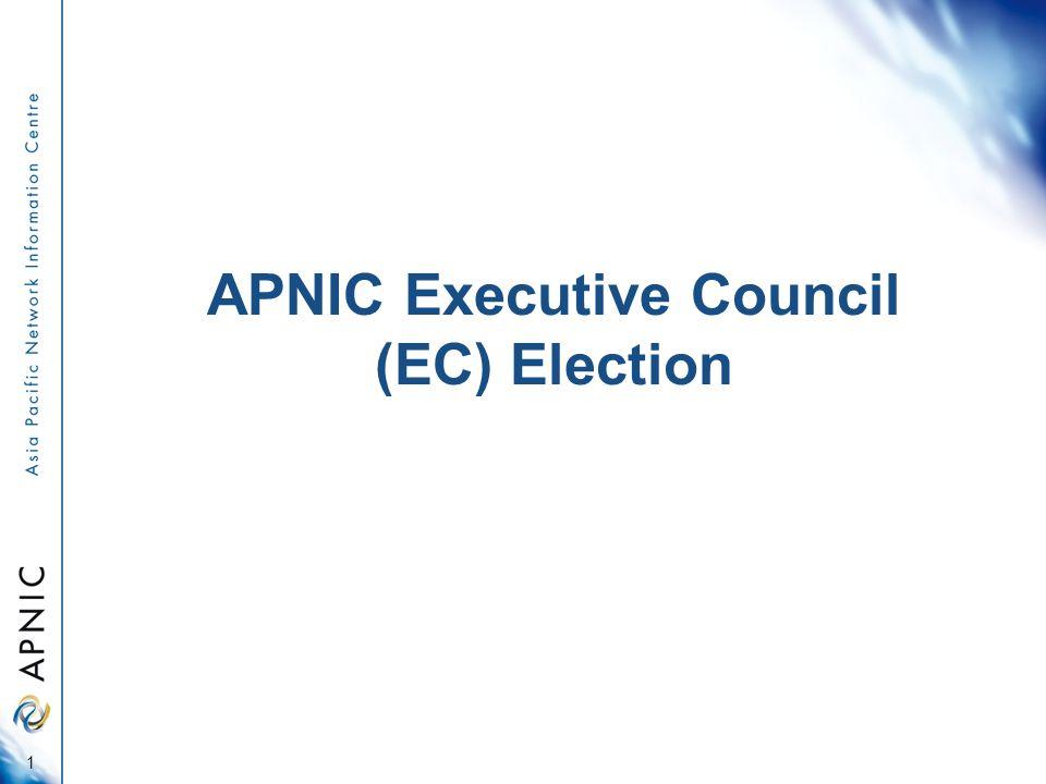 APNIC Executive Council (EC) Election 1