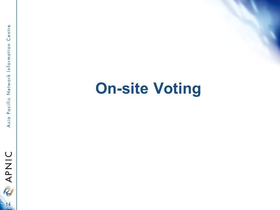 On-site Voting 14