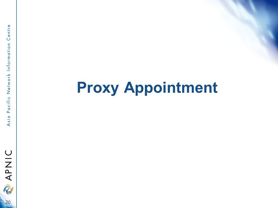 Proxy Appointment 20
