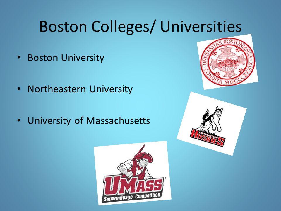 Boston Colleges/ Universities Boston University Northeastern University University of Massachusetts