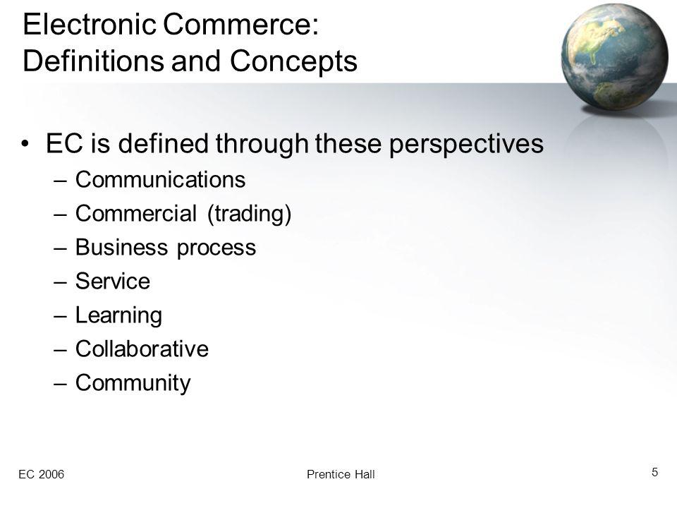 EC 2006Prentice Hall 26 Exhibit 1.4 Major Business Pressures and the Role of EC
