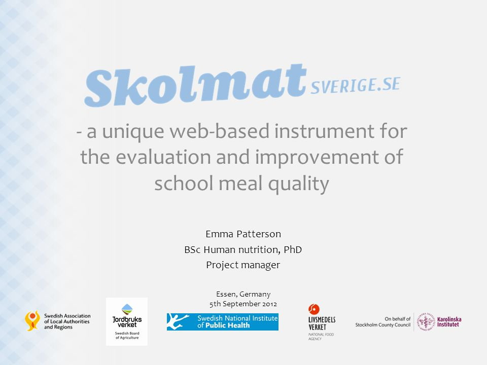 Nutritional adequacy ◊Vitamin D ◊Iron ◊We developed and validated nutrient-specific food-based criteria for each ◊Criteria predict if school is likely to fulfill/unlikely to fulfill Swedish Nutritional Recommendations ◊Fat quality ◊Fibre