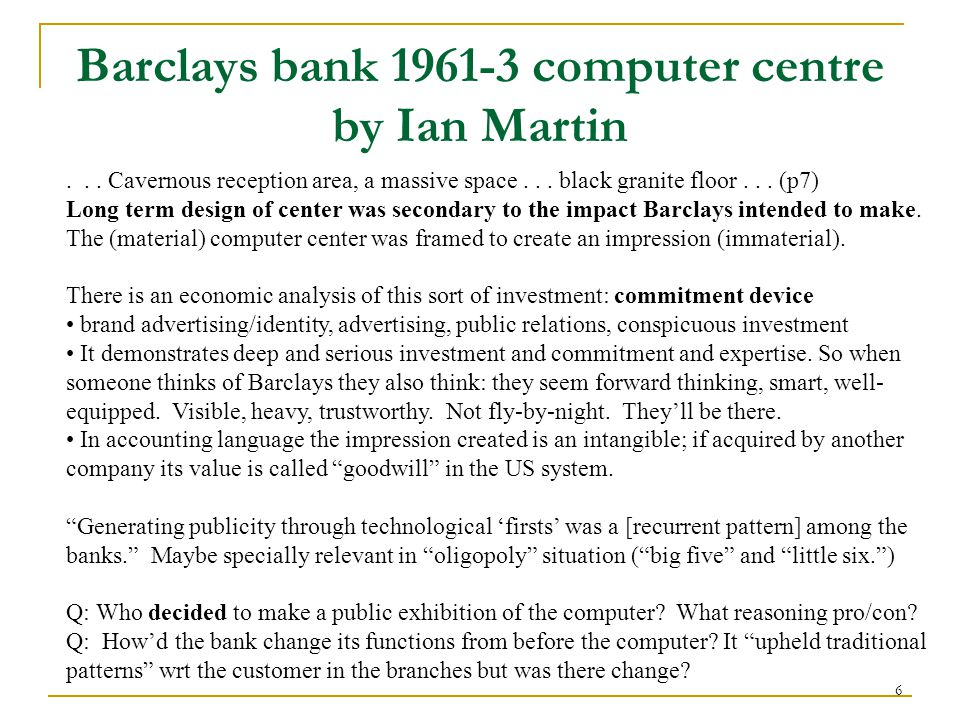 6 Barclays bank 1961-3 computer centre by Ian Martin...