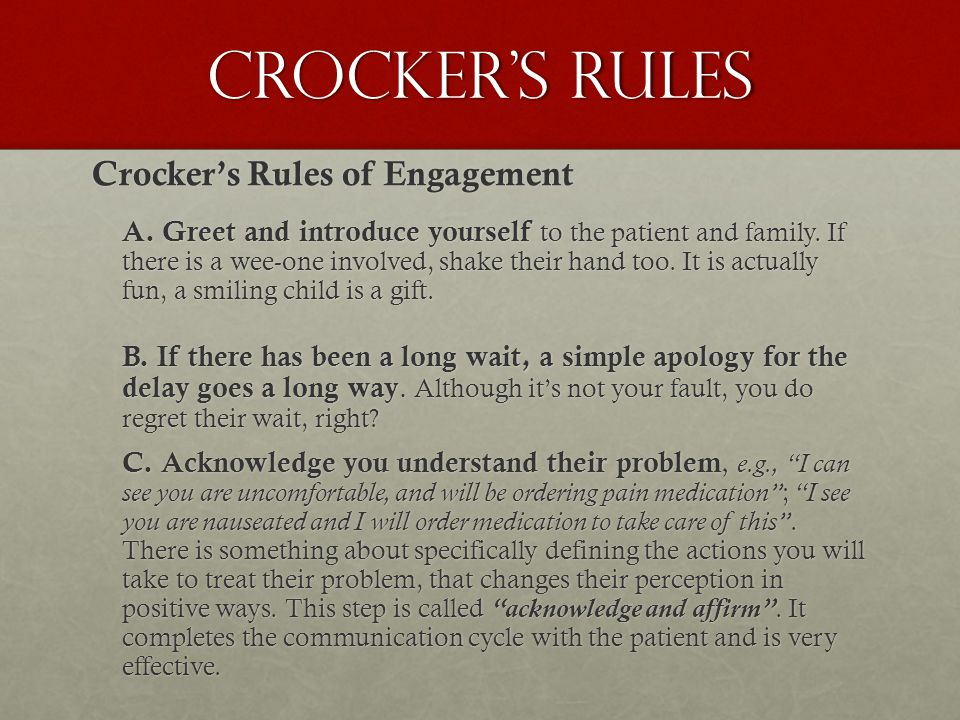 Crocker's Rules Crocker's Rules of Engagement A.