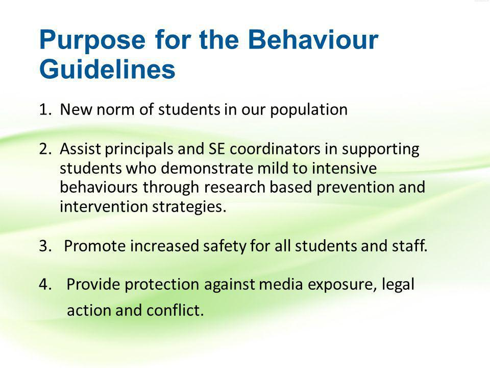 Physical Restraint and Seclusion Are emergency procedures only Indicate the need for a behaviour and/or a safety plan Are not procedures to be used regularly Are never disciplinary Should be reported as soon as possible to the Principal and parent Binder pages 140-141