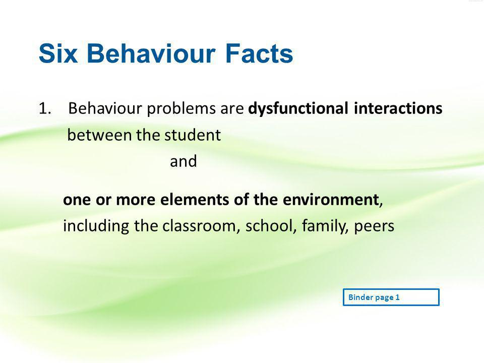 2.Behavior is learned and serves a specific purpose.