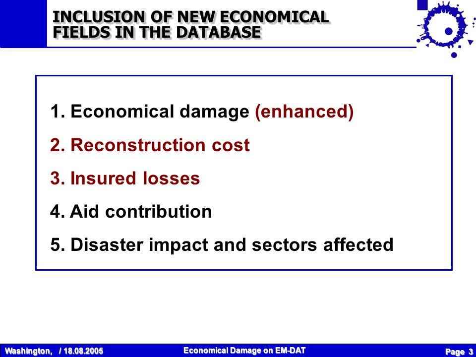 Washington, / 18.08.2005 Economical Damage on EM-DAT Page 3 1.