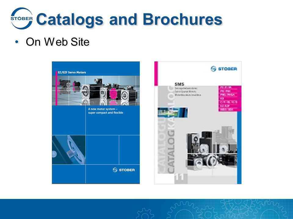 Catalogs and Brochures On Web Site