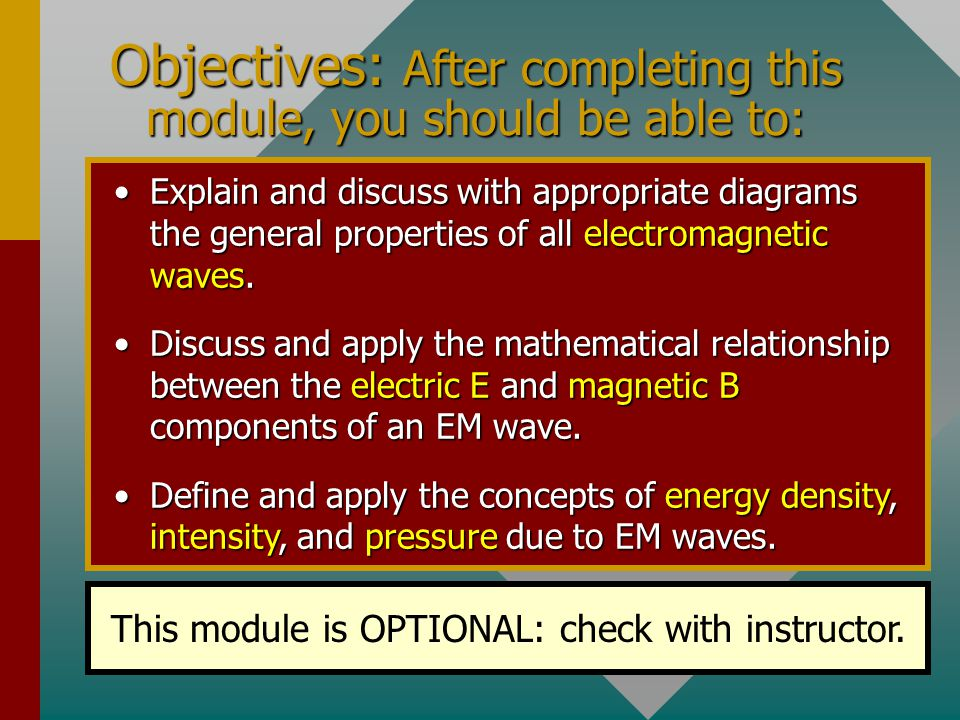 Chapter 32C - Electromagnetic Waves (Optional Unit) A PowerPoint Presentation by Paul E.